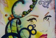 moje práce / Art journal Mixed media