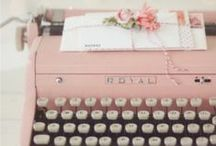 typewriter love / Not just any ole typwriter... baby pink would be preferred.