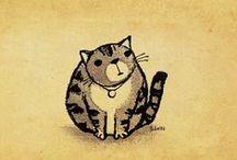 Arte en Gato / dibujos, ilustraciones y arte inspirado en hermosos felinos / by Paulina