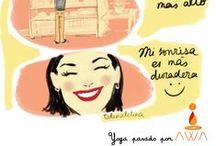 Ilustración y Yoga / Cómic hecho por Carla Clementina (Talamaletina)