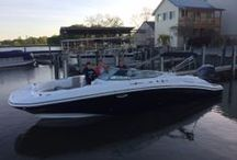 Our Proud Hurricane Customers! / We love to promote our customer's experience -- especially when they get the call from the dealer that the boat they ordered is in! Getting the boat on the water and enjoying the ride is what it truly is all about! Please let us know if you are ordering a Hurricane Deck Boat, or have one -whether it's new or old... we'll pin your Hurricane  photos!   #hurricaneboats #NGG #Nautic Global Group #nauticglobalgroup #Ilovemyboat