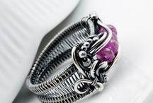 Drót, réz, ezüst gyűrűk