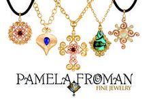 "Pamela Froman / Pamela Froman is an award-winning fine jewelry designer, best known for her innovative handmade pieces that combine multiple colors of 18k Gold, finished with her signature ""Crushed"" texture."