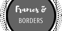 Frames & Borders / Frames | Borders | Page | Layout | Design | Paper | Poster | Elegant | Fun | Commercial | Personal |