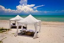 Sundial Cabanas / We offer private dinners under a cabana on the beach. Guests can also rent a cabana for the day. For more information call 239-472-4151
