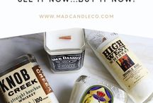 L I Q U O R . C A N D L E S / All items of our M.A.D Candle co. re-purposed candle collection are handcrafted by local artists and created from up-cycling recycled wine bottles & liquor bottles into re-purposed eco-soy blend candles.  We use a very high quality of soy wax to ensure you receive a clean long burn time of 60+ hours on average.  Our Liquor Bottle candles have proven to be the perfect gift for the liquor enthusiast especially with our Mahogany Teakwood & Tobacco & Bay Leaf scents!