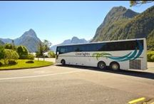 Milford Sound Coach / Cruise / Fly - Air Milford / For the most engaging way to experience the riches of Fiordland National Park. This option includes three modes of transport (land, sea and air) making this the 'holy grail' of combination tours.