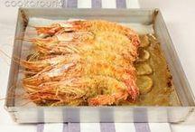 Gamberi, gamberoni, mazzancolle, aragosta / Shrimps, prawns, tiger prawns, lobster / Il trionfo del mare in tavola!  The best sea has to offer!