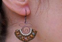 Wire wrap / earrings /серьги / украшения / earrings wire wrap