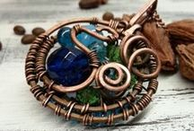 Wire wrap Кулоны плетение / pendant / wire wrap   pendant