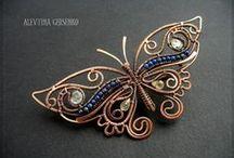 Wire wrap Бабочки,Стрекозы / wire wrap
