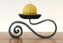 Кованые изделия /  wrought iron candle holders / forged products, wrought iron candle holders