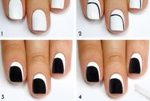 Nail designs / Nail designs including different shapes and colours. Some of these designs are acrylic nails in different shapes and some are gels, and others are natural but all designs (colours and patterns) can be used for all 3.