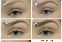 Eyebrow tips/designs / Eye brow designs, techniques to use for different shapes and different colours of eyebrows.  Eyes brows shape your face and accentuate your features on your face. So choosing the right technique, shape and colour is important.   P.s. Eyebrows are sisters not twins. They might not always look identical but as long as they look full, stylish and for the shape of your face, every thing's fine.