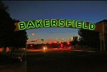 Bakersfield, California / Bakersfield, CA. Home of The Bakersfield Sound, the oil derrick, and the hometown spirit. Also where I was born and raised.