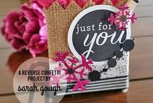 Pretty Packaging / Create some fun packages with a little imagination and Reverse Confetti stamps and Confetti Cuts.