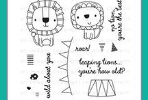 Leaping Lions Stamp Set / Reverse Confetti stamp set: Leaping Lions (April 2015 release)
