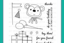 Monkey Business Stamp Set / Reverse Confetti May 2015 stamp release: Monkey Business