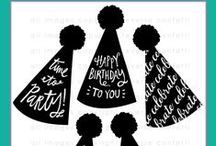 Party Hats Stamp Set / Reverse Confetti May 2015 release - Party Hats stamp set