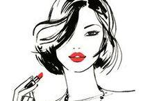 | beauty & fashion ilustrations | / Ilustrações fashion e de beleza que nos inspiram