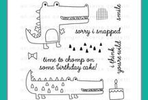 Later Alligator Stamp Set / Reverse Confetti July 2015 stamp release: Later Alligator