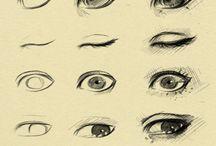 Elementos faciais / Boca, olhos, nariz, orelha e expressões.