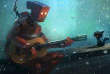Robôs  mechas ciborgues