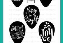 Merry & Bright Stamp Set / Reverse Confetti Stamp set: Merry & Bright (October 2015)