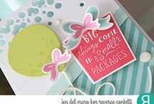 Boxes 'n Balloons Stamp Set / Reverse Confetti stamp set: Boxes 'n Balloons (May 2016)