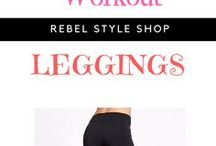 Workout Leggings / Find women's workout, camo, colorful, red, black, printed, cheap, white, workout and cute leggings. Add them on your gym and yoga clothes as well as your exercise and fitness outfit. https://rebelstyleshop.com/collections/workout-leggings