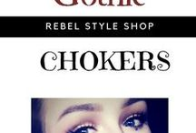 Gothic Chokers / Get ideas for the best gothic chokers, black, lace choker necklaces, and goth chokers that can be part of your gothic and punk fashion statement. https://rebelstyleshop.com/collections/gothic-chokers