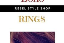 Boho Rings / Get cheap and fashionable bohemian rings for your boho chic look. https://rebelstyleshop.com/collections/boho-rings