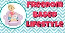 Freedom-Based Lifestyle / My dream boarding for living a freedom-based lifestyle as a full-time blogger!
