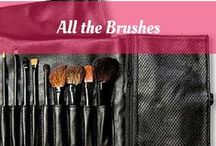 All the Brushes / Because fingertips don't always do and you need makeup brushes to get the look you want. All brushes by Mineralogie Makeup.