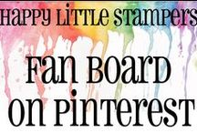Happy Little Stampers Fan Board / Designs creating by our customers using stamps by Happy Little Stampers