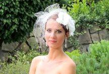 Birdcage veils Mariee Design / Svadobné závoje, svadobné ozdoby do vlasov, fascinátory, birdcage závoje, fancúzske závoje, juliet cap závoje, svadobné náušnice a ďalšia bižutéria so Swarovski Elements..