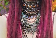 Hippie, romance, boho