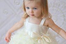 Flower girl dresses / Cute little girl in cute little dress, lead the bride to happiness. http://goo.gl/F00tWH