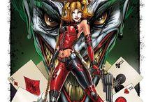 Harley Quinn. / Fun filled lollipop triple dipped in psycho