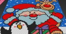 Seasonal Graphs by Two Magic Pixels (c2c, sc, tss, hdc, dc) / Beautiful graphs that you can use for crochet, knit, cross stitch, plastic canvas, latch hook, hama beads.