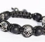 bijoux pour hommes/bracelet homme/crâne/tête de mort/cadeau pour hommes / pierre de Gemmes, acier
