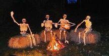 Halloween, citrouille, chauve souris, fantôme, squelette, horreur, 31 octobre, château hanté / décoration, recette, bijoux maquillage idée pour halloween