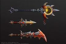 weapons, shields