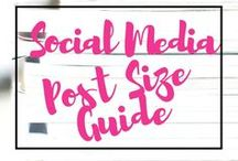 Social Media Post Size Guide / Social Media Size Guide Pinterest Board can guide you in creating and applying correct measurements for your any type's of social media covers, ect. via @annazubarev