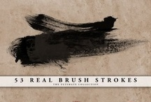 Brushes, Fonts, Textures, Tutorials, etc. / for digital work