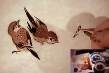 Chinese Brush Paintings / Chinese brush painting images and tutorials.  / by Laura