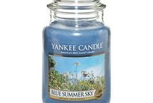 Blue Summer Sky / This bright fragrance captures all the glory of a heavenly summer day with the crisp, clean scent of summer berries and fresh ginger, enhanced with notes of jasmine, orange blossom and blue lotus / by Yankee Candle: Scented Candles | Home & Car Air Fresheners, Fragrances & Decor