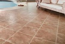 Karndean Da Vinci Stone / With its cool limestone and rich ceramics the sophisticated Da Vinci range, with deep bevelled edges, large tile sizes and creative design strips complete the timeless appeal of this luxury floor tile: http://newcastlekitchenandbedroomco.co.uk/