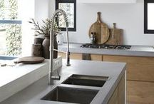 Concrete Kitchens / We are continually working towards bringing you everything you could ever want in your kitchen. We offer our customers a real choice about the kind of kitchen they want to achieve; a completely unique hand-crafted kitchen or a cutting-edge contemporary design: http://newcastlekitchenandbedroomco.co.uk/