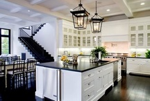 Kitchens  / Lavish hand-made custom cabinets, made to order. All products are made, and installed in America by Americans. Along with custom cabinets, I've thrown in a few stainless steel appliances that I feel should go perfectly into these custom kitchens.  / by !NONAME?